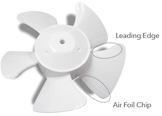 Leading Edge. Air Foil Chip.