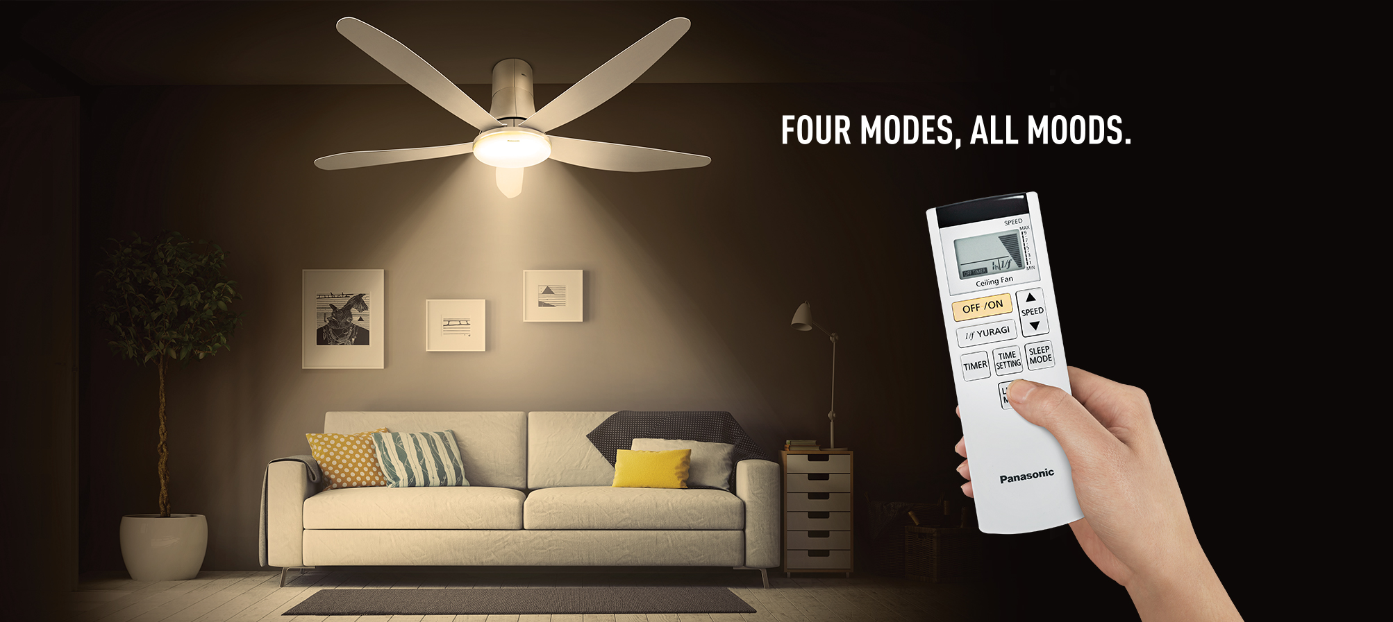 Panasonic Ceiling Fans combine beautiful contemporary designs with innovative technology, creating strong airflows, which complement the circulation of cool air from air conditioning systems.