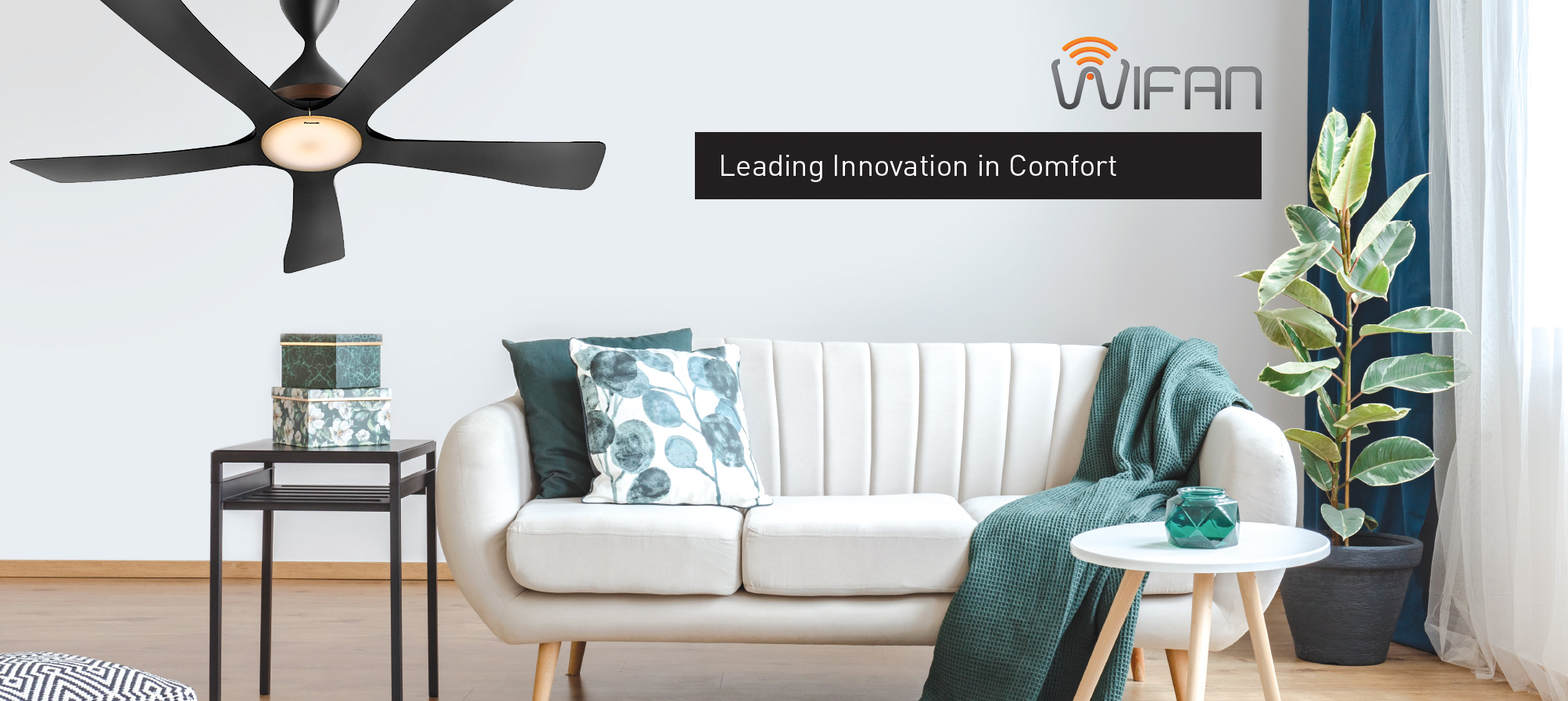 Enter a new generation of control with the new Wifi Fan that's powered with a Mobile App remote control! With the new Panasonic technology, you are just one touch away from a natural breeze.